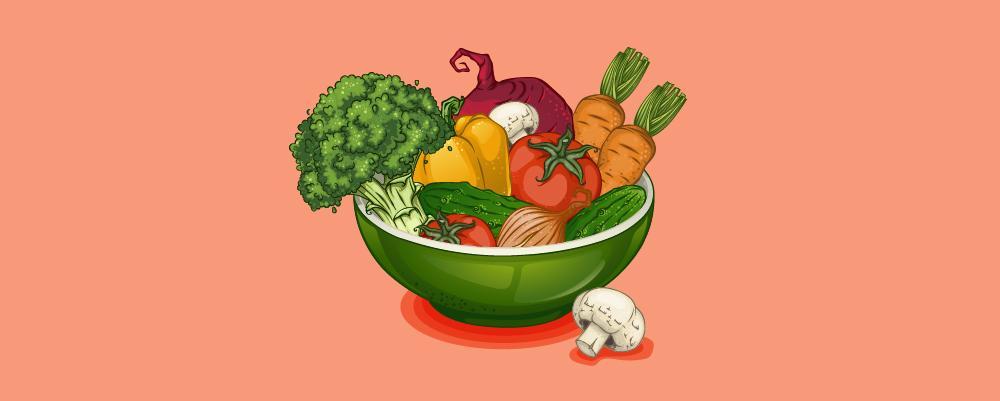 A bowl of Vegetarian diet