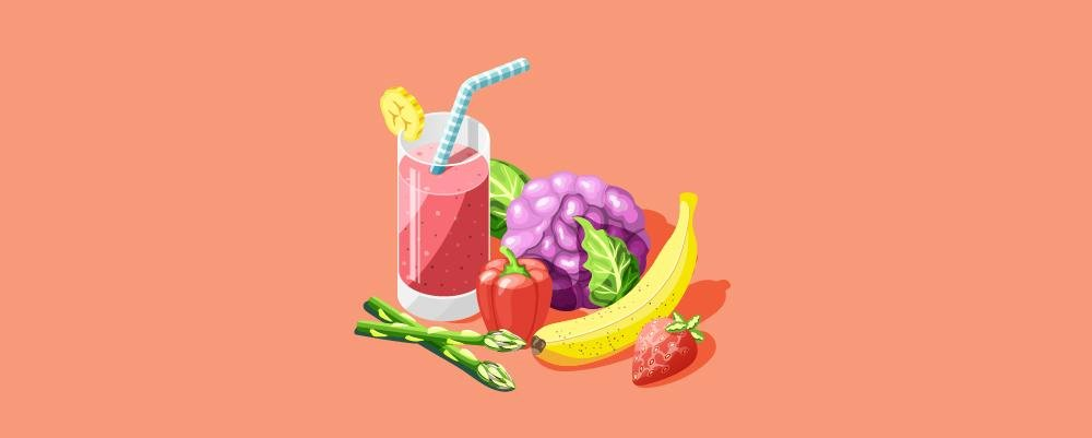 A smoothie made for the vegetarian diet